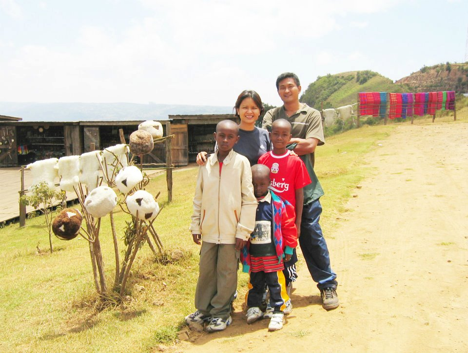 Gabriel with his sister Jacqueline taken in the Great Rift Valley of Kenya together with William, Solo and Salati in 2004 | PHOTO: Tana River Life Foundation